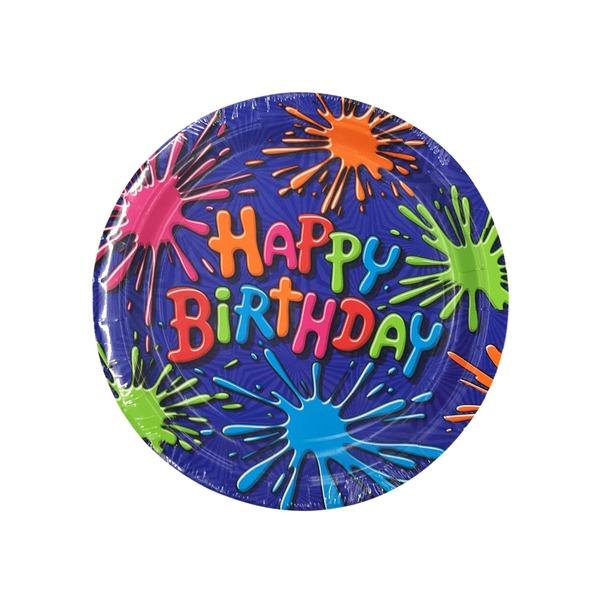 American Greetings Plates Birthday Splat Wrapper