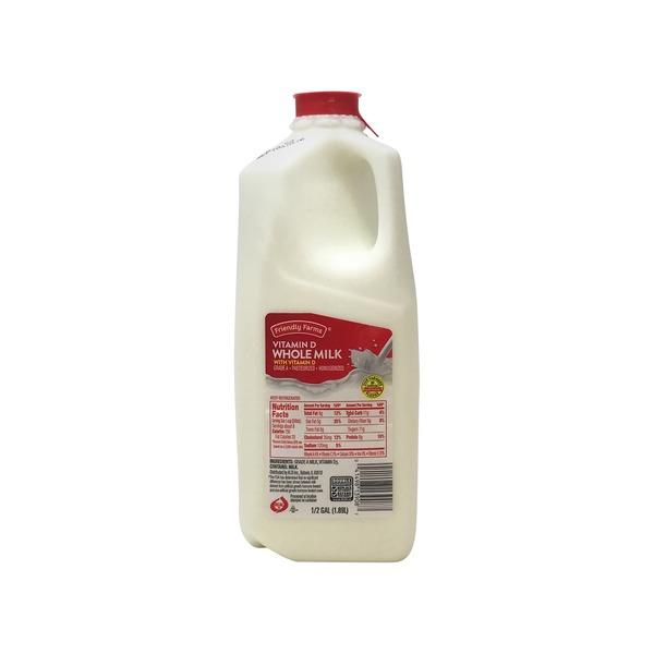 Friendly Farms Whole Milk (0 5 gal) from ALDI - Instacart