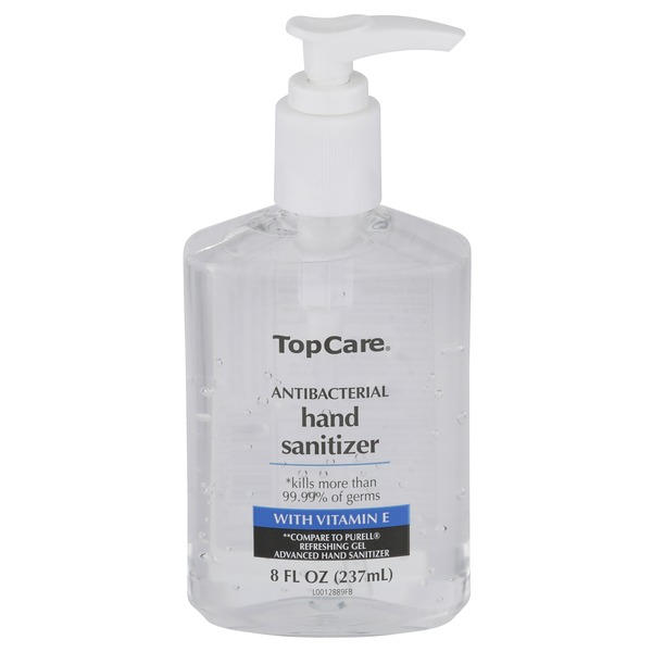 Topcare Antibacterial Hand Sanitizer With Vitamin E 8 Fl Oz