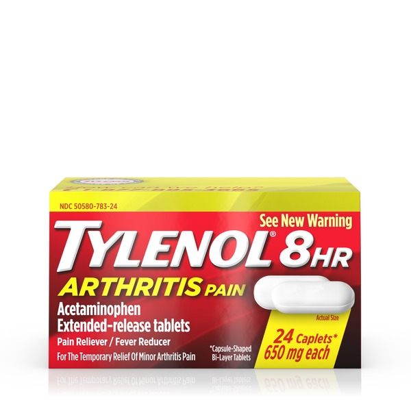 Tylenol 8 HR Arthritis Pain Extended Release Caplets, 650 Mg