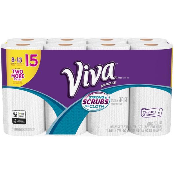 Viva Vantage Choose-A-Sheet* Paper Towels (8 ct) - Instacart