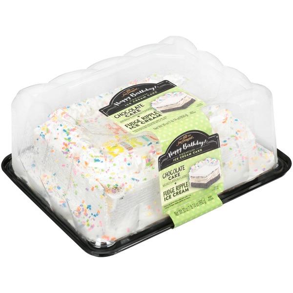 Jon Donaire Deliciously Moist Chocolate Happy Birthday Cake With Rich Creamy Fudge Ripple Vanilla Ice