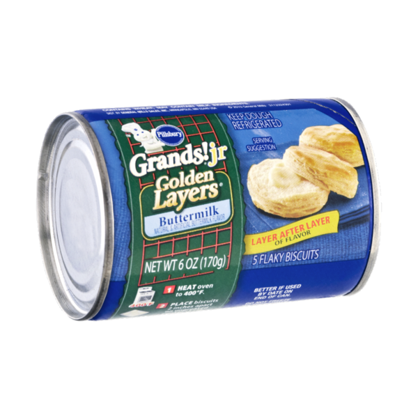 Pillsbury Grands Juniors Flaky Layers Buttermilk Biscuits From