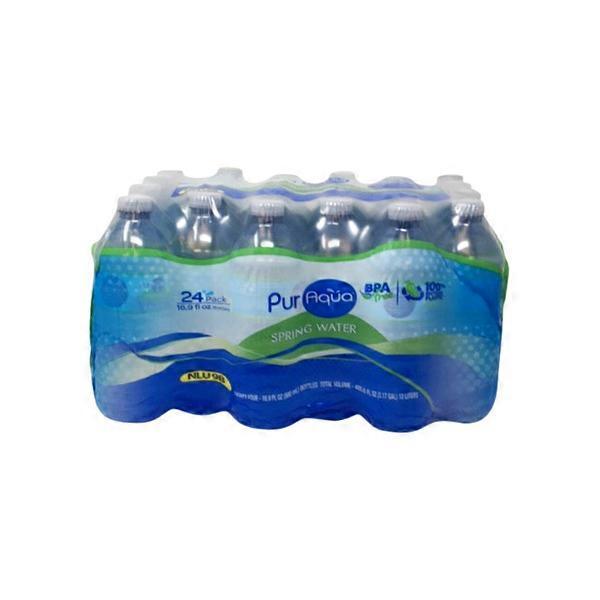 PurAqua Natural Spring Water (16 9 fl oz) from ALDI - Instacart