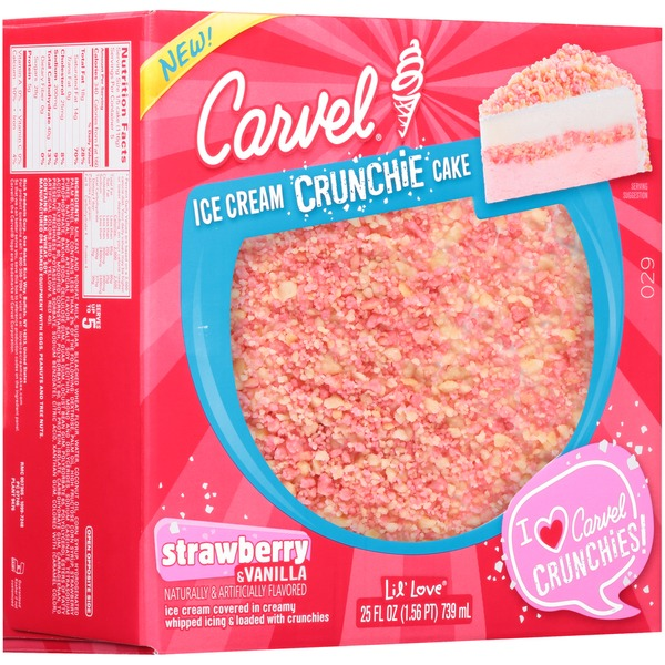 Carvel Strawberry Vanilla Ice Cream Crunchie Carvel Lil Love