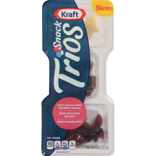34b70c5c733c Kraft Snack Trios Extra Sharp White Cheddar, Dried Cranberries ...