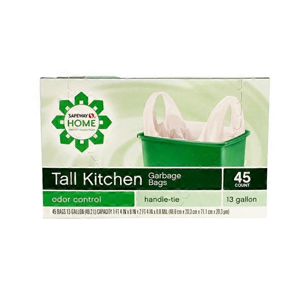 Signature Home Garbage Bags, Tall Kitchen, Handle Tie ...
