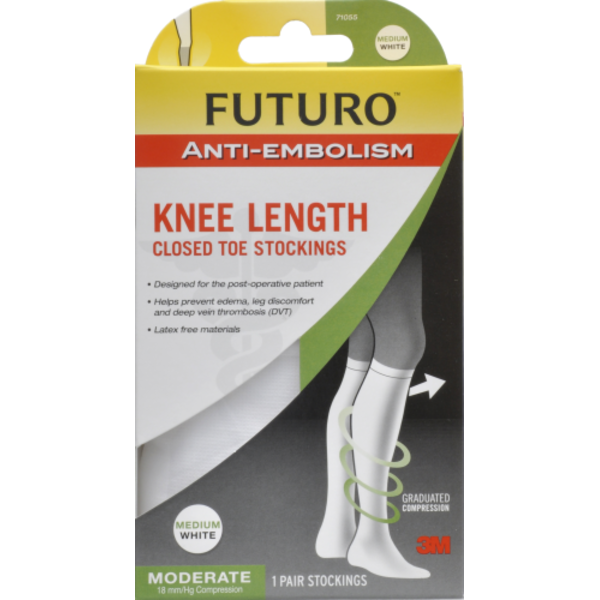 d0ff0112f7 Futuro Closed Toe Knee Length Moderate Compression White Medium Stockings  from Kroger - Instacart