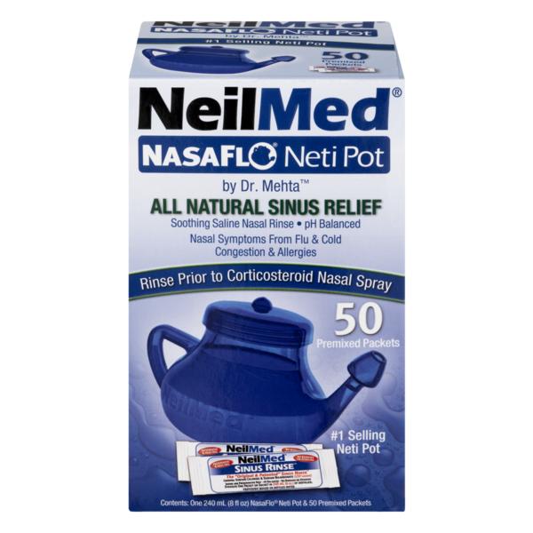 NeilMed NasaFlo Neti Pot With Packets