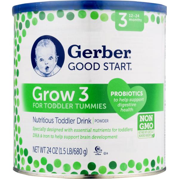Gerber Good Start Grow 3 For Toddler Tummies Nutritious Toddler