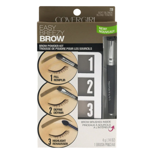Covergirl Easy Breezy Brow Powder Kit 720 Soft Blonde 1 Kit From