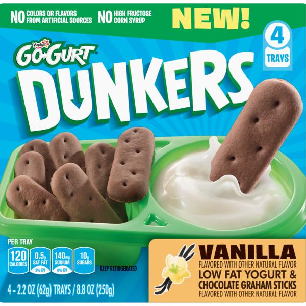 Go Gurt Vanilla Low Fat Yogurt Chocolate Graham Dunkers