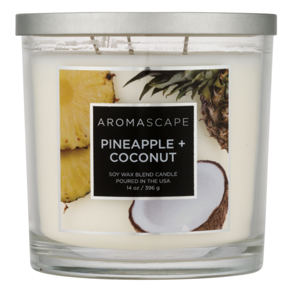 Aromascape Soy Wax Blend Candle Pineapple + Coconut (14