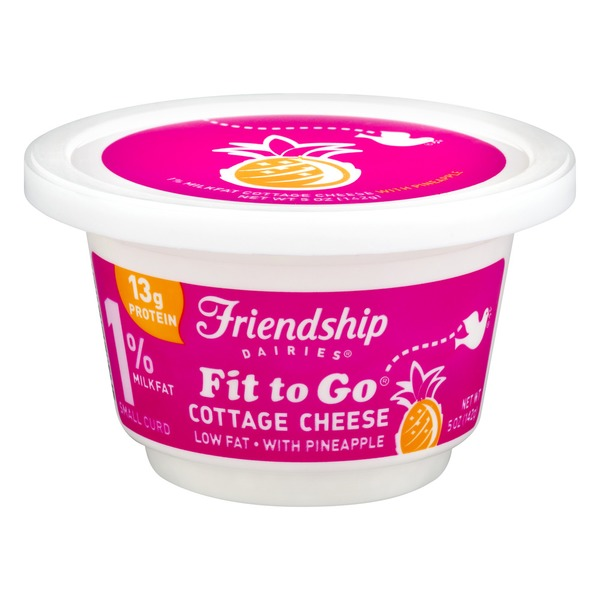Friendship Dairies Fit To Go 1 Milkfat Cottage Cheese With Pineapple Small Curd