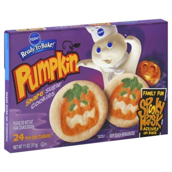 Pillsbury Ready To Bake Pumpkin Shape Sugar Cookies 11 Oz From