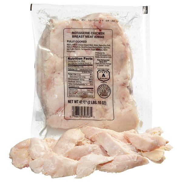 Kirkland Signature Hand Pulled Rotisserie Chicken Breast Meat
