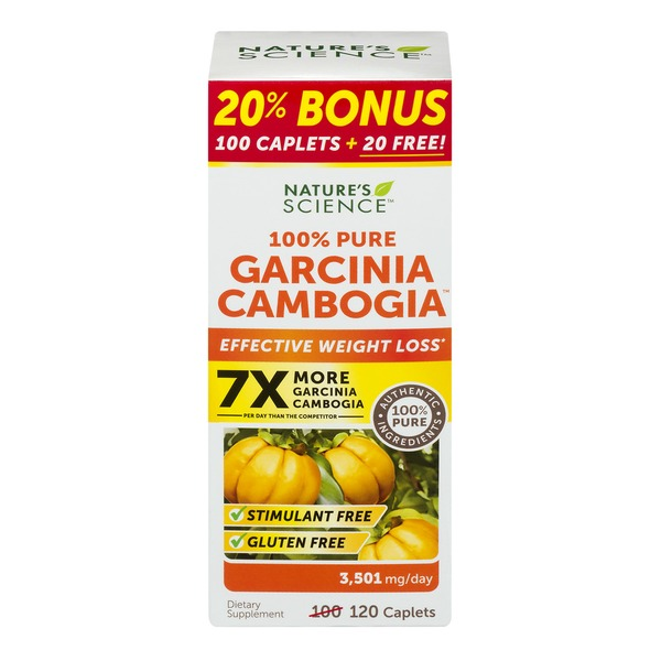 Nature's Science 100% Pure Garcinia Cambogia Weight Loss Supplement - 120 CT