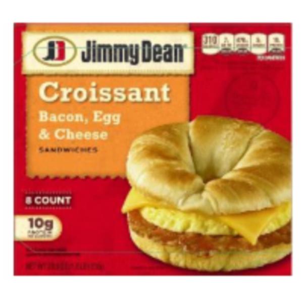 Jimmy Dean Bacon Egg Cheese Croissant Breakfast Sandwich From