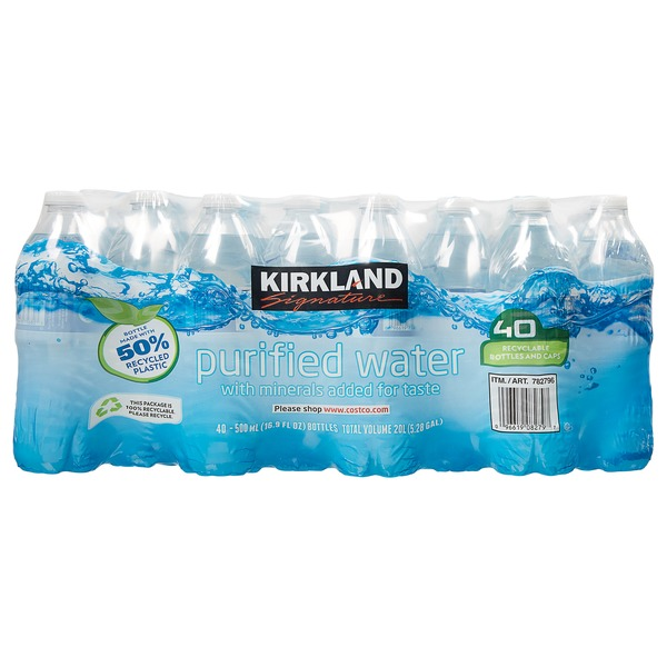 Kirkland Signature Premium Bottled Drinking Water, 16 9 oz (16 9 fl