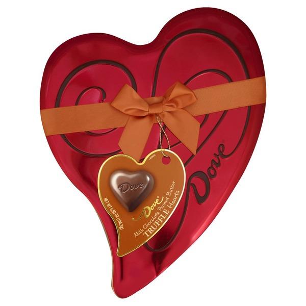Dove Truffle Hearts Milk Chocolate Peanut Butter 65 Oz From