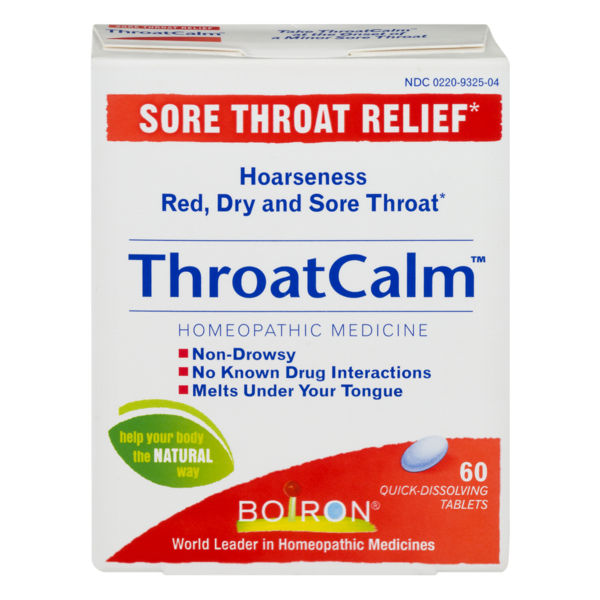 Boiron Throat Calm Sore Throat Relief Tablets (60 ct) from
