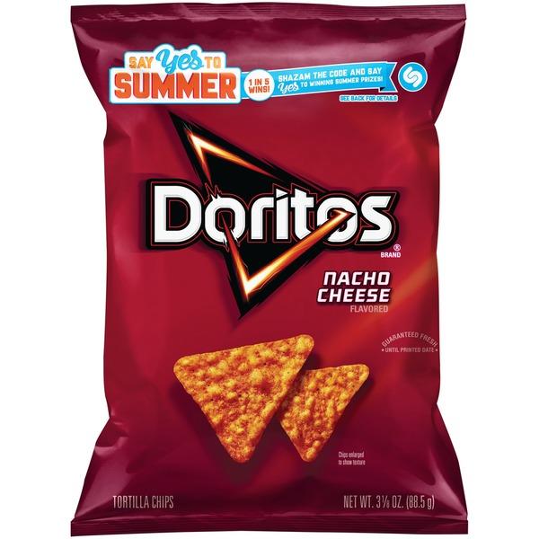 Doritos Chips Nacho Cheese Flavored Tortilla Chips