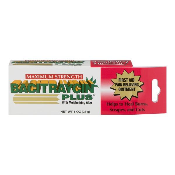 Bacitraycin Plus Pain Relief Antibiotic Ointment, Aloe (1 oz