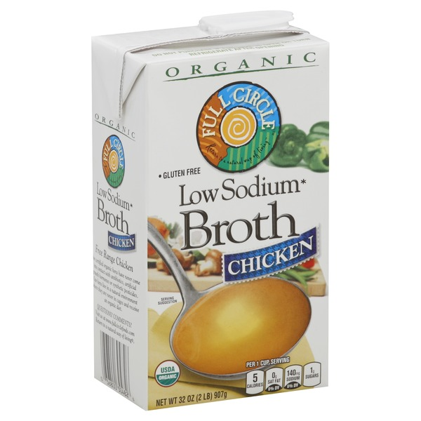 Full Circle Low Sodium Chicken Broth (32 oz) from Stater Bros