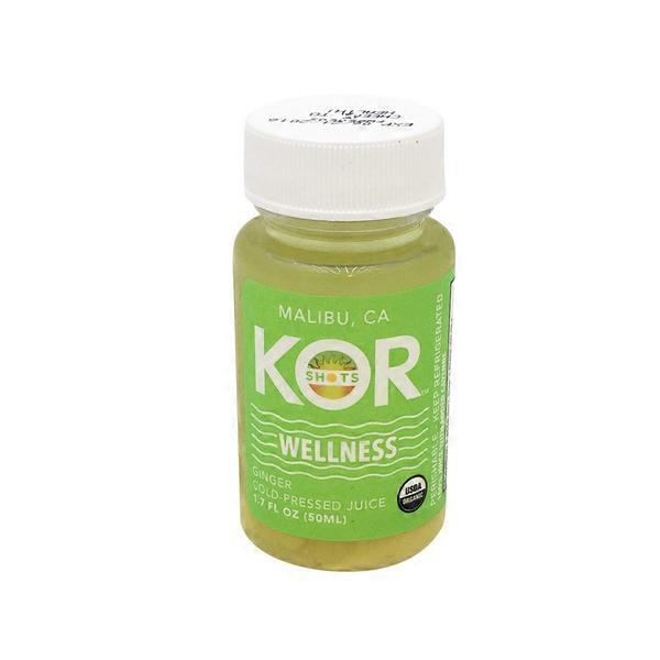 Kor shots Wellness Organic Ginger Cold-Pressed Juice Shot (1.7 oz) from Whole Foods Market ...