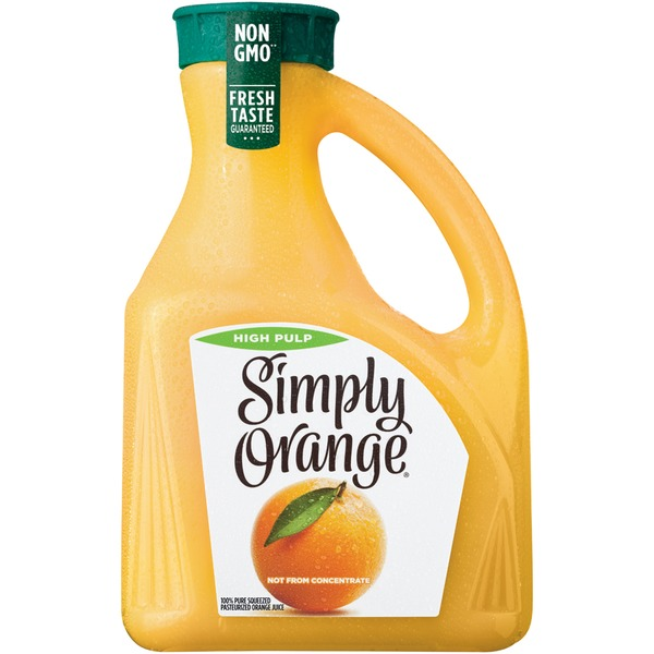 simply beverages high pulp simply orange high pulp orange juice from