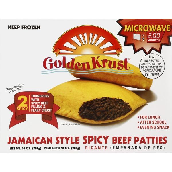 golden krust beef patties jamaican style spicy 2 each