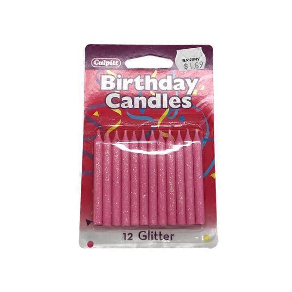 Decopac Pink Glitter Candles