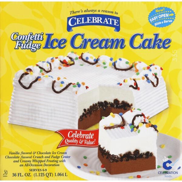 Celebrate Ice Cream Cake, Confetti Fudge