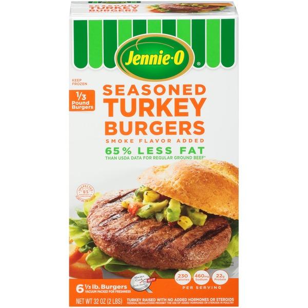 Jennie O Seasoned 1 3 Lb Turkey Burgers 32 Oz Instacart