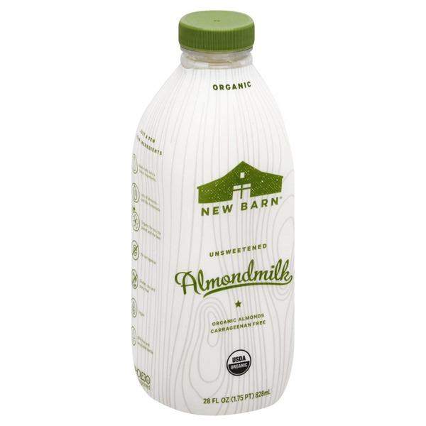 New Barn Almondmilk, Organic, Unsweetened
