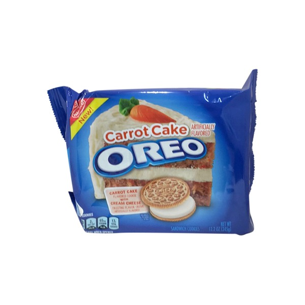 Oreo Carrot Cake Flavored Cookie With Cream Cheese Sandwich