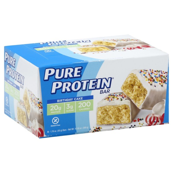 Admirable Pure Protein Protein Bar Birthday Cake 6 Each From Stop Shop Personalised Birthday Cards Epsylily Jamesorg