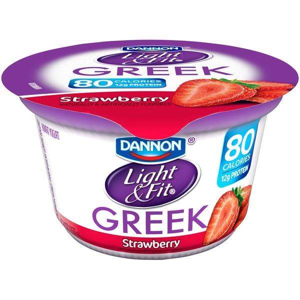 Light U0026 Fit Greek Greek Strawberry Nonfat Yogurt