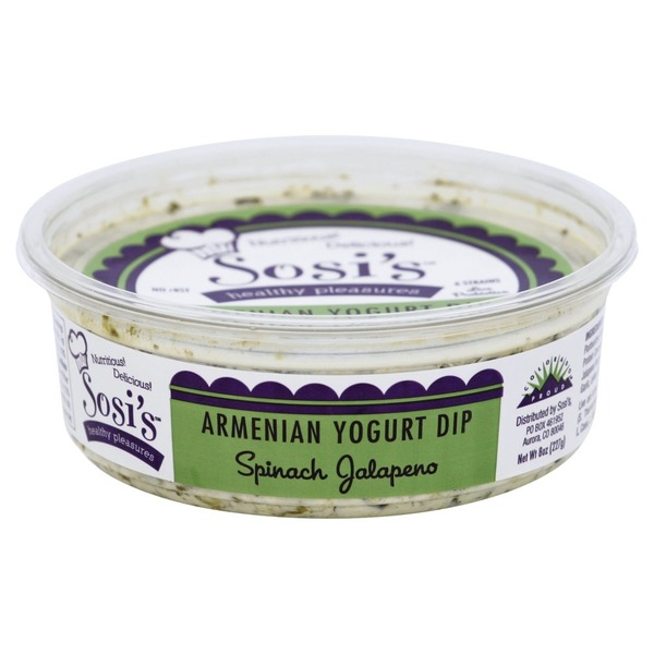 Sosis Yogurt Dip, Armenian, Spinach Jalapeno (8 oz) from