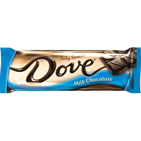 Dove Milk Chocolate Singles Size Candy Bar Bar Box 144 Oz