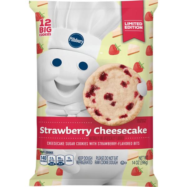 Pillsbury Ready To Bake Strawberry Cheesecake Cookies 14 Oz From