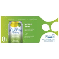 a007a81b15 Aquafina Sparkling Lemon Lime Water Beverage (8 - 12 Fluid Ounce) 96 Fluid  Ounces 8 Pack Aluminum Can