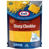 Kraft Sharp Cheddar Finely Shredded Cheese