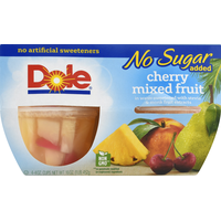 Dole Cherry Mixed Fruit, No Sugar Added