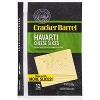 Cracker Barrel Havarti Slices Cheese