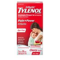Tylenol Infants' Oral Suspension, Dye-Free, Cherry
