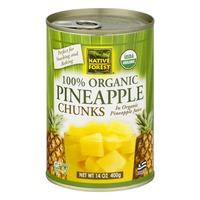 Native Forest 100% Organic Pineapple Chunks
