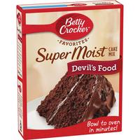 Betty Crocker Super Moist Devil's Food Cake Mix