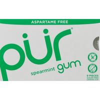 Pur Chewing Gum, Aspartame Free, Spearmint