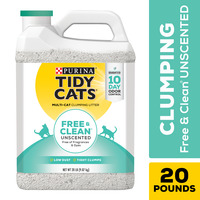 Purina Tidy Cats Clumping Cat Litter, Free & Clean Unscented Multi Cat Litter